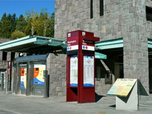 AuCoin Plaza at Zoo train stop